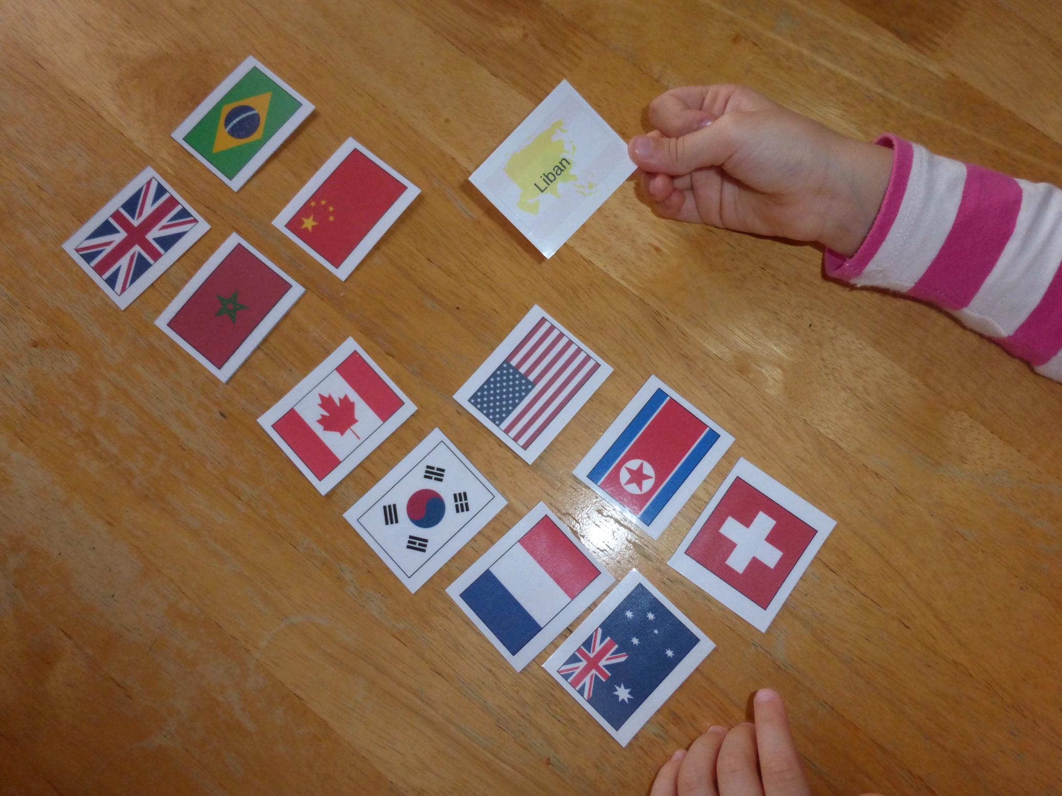 Exemple 1 flashcards drapeaux du monde