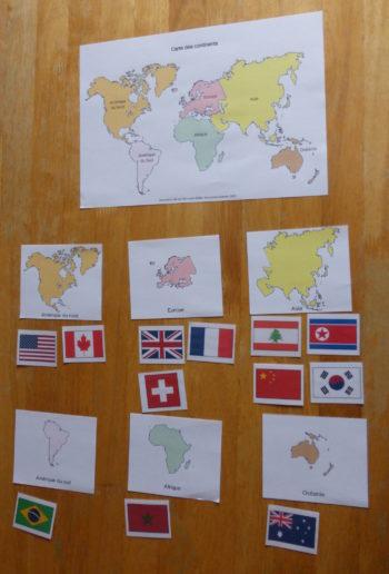 flashcards drapeaux du monde classement par continents