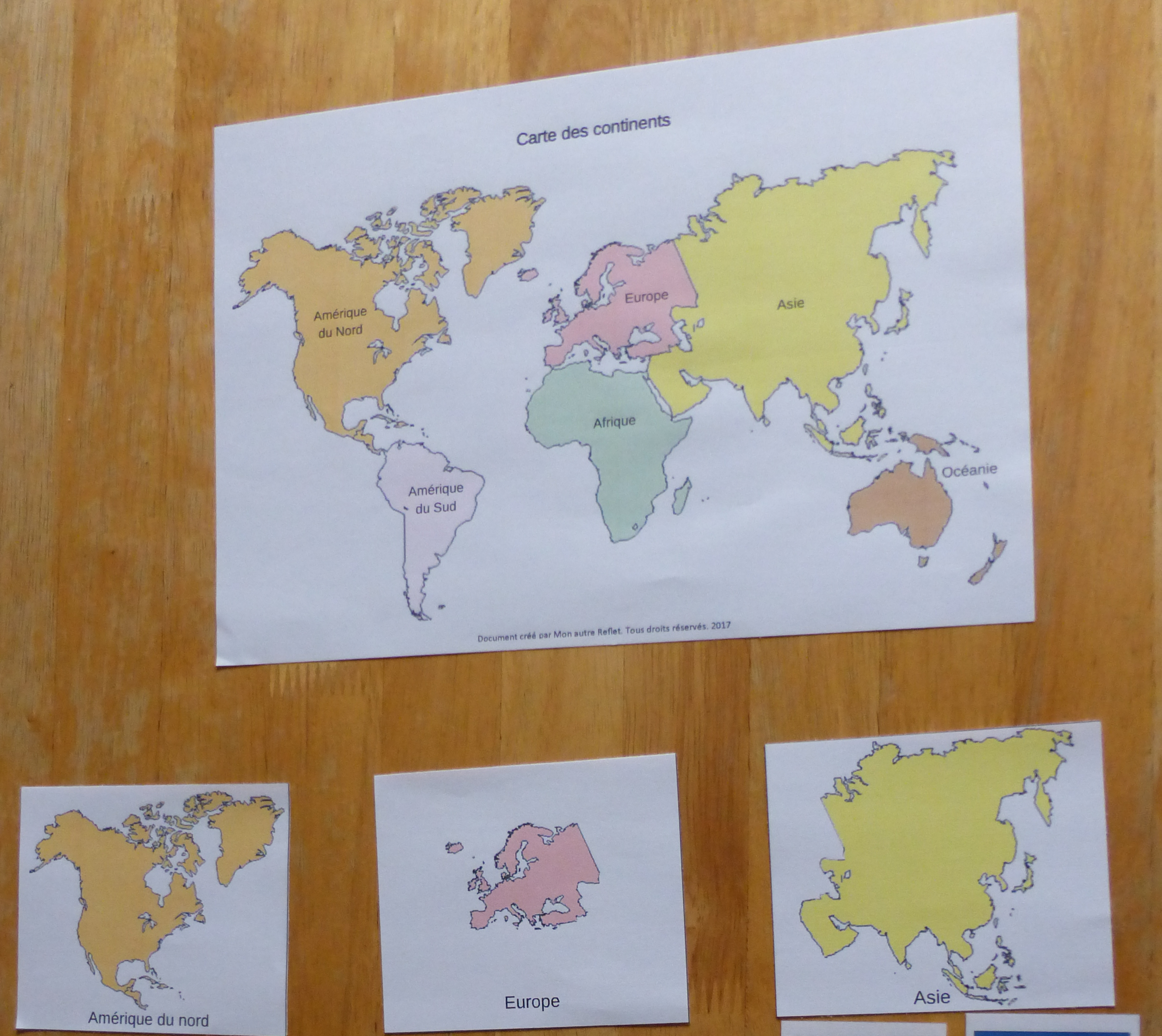 Exemple continents
