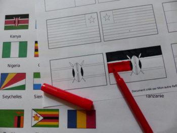 Exemple de drapeaux à fabriquer