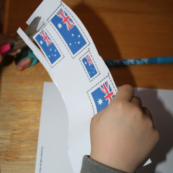 Découpage drapeaux Australie