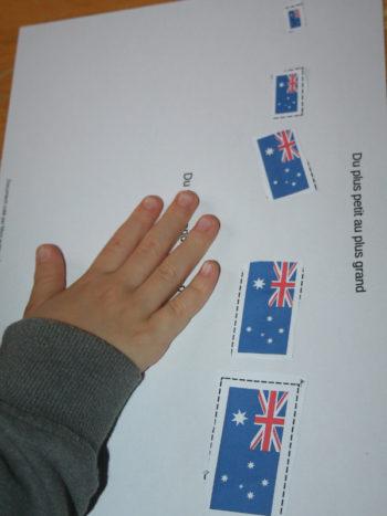 Ordonner drapeaux Australie