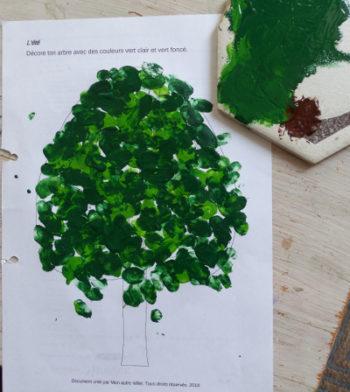 arbre saison peinture