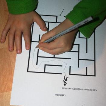 Labyrinthe du livret Canada pour les maternelles