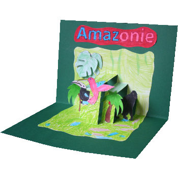 carte pop-up Amazonie