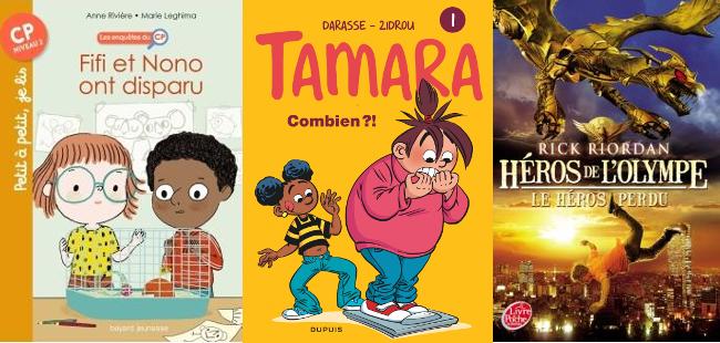 livres avec personnages noires