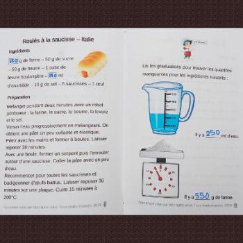 maths cycle 2 et recette italienne