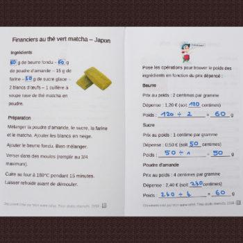 maths cycle 2 et recette japonaise