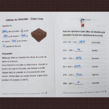 maths cycle 2 et recette américaine