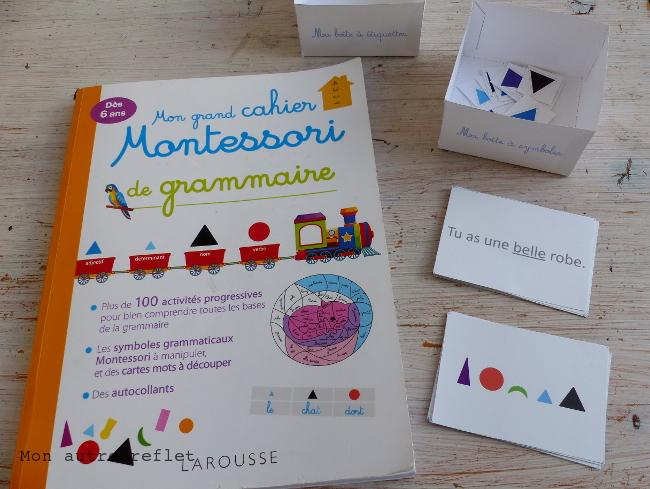 cahier montessori de grammaire