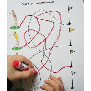Graphisme maternelle sur le golf