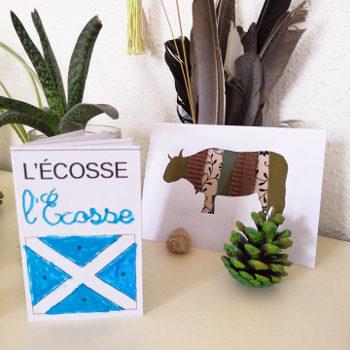 Carte et mini-livre maternelle sur l'Écosse