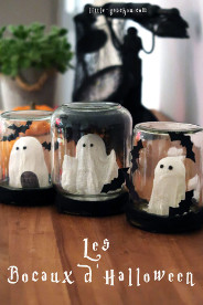 DIY fantômes en bocal