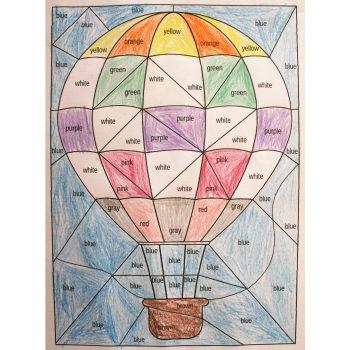 coloriage magique couleurs et transports