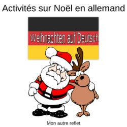 Activités de Noël en allemand