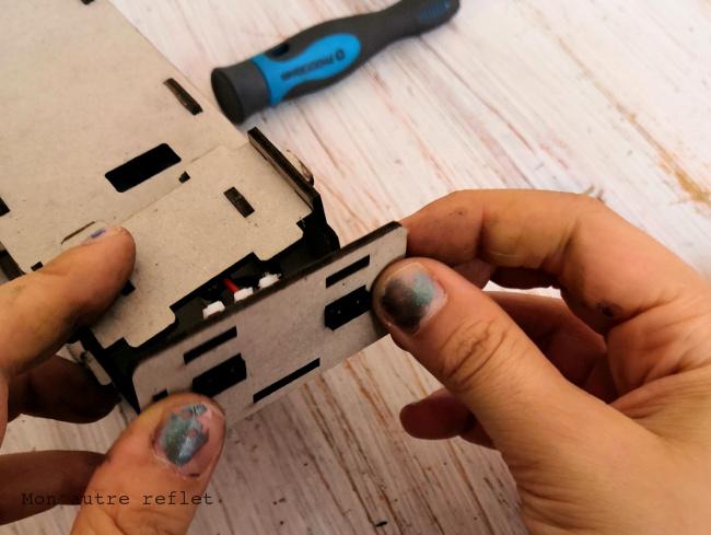 Tête et capteurs d'Achille Robot Labo