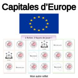 pack memory des capitales européennes