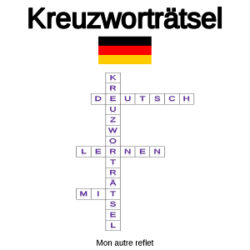 Mots croisés en allemand pour débutants