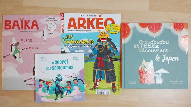 livres sur le Japon maternelle et élémentaire