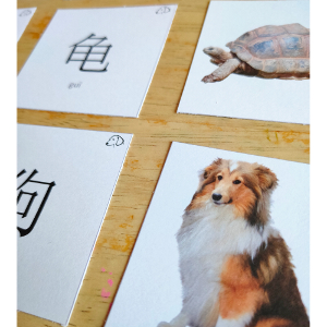 cartes de memory en chinois mandarin sur le thème des animaux