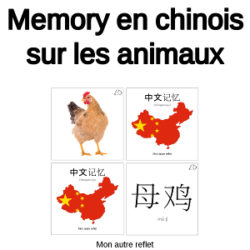 memory chinois sur les animaux