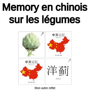 memory chinois sur les légumes
