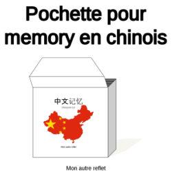 pochette pour deux jeux de memory chinois
