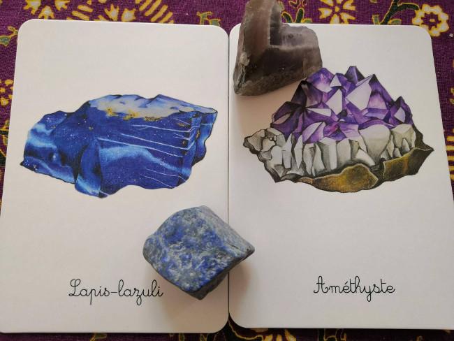coffret sur les minéraux Montessori