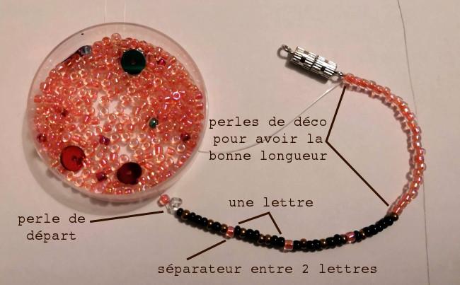 Bracelet en code binaire