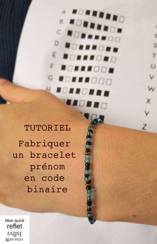 fabriquer un bracelet en code binaire