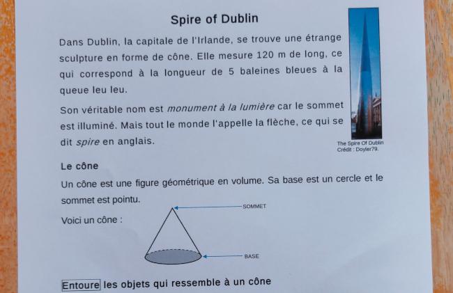 activités sur l'Irlande et le Spire of Dublin
