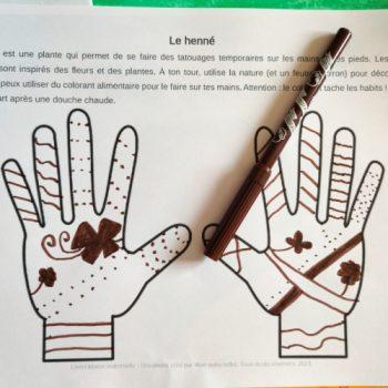 Activité sur le Maroc : décorations au henné