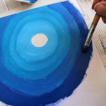 Activité artistique sur le Maroc : peindre des cercles concentriques