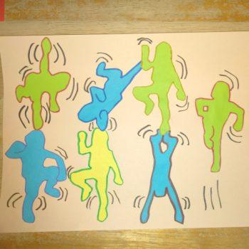à la manière de Keith Haring avec les maternelles
