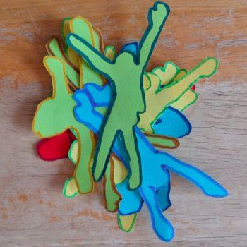 Découpage de silhouettes à la manière de Keith Haring