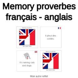 Memory proverbes français - anglais