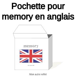 Pochette de rangement pour les cartes de memory en anglais du site Mon autre reflet